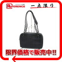 "Chanel Coco make chocolate Jersey x calf mini chain shoulder bag handbag black ""response."""