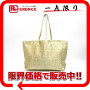 "Fendi braided hair caked Tote gold 8BH126 ""enabled."""