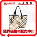 "Burberry Prorsum Nova check PVC x patent leather tote with pouch beige × black ""response."""