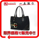 """Gucci GG canvas / leather-bit hardware Tote black 137385 """"support."""""""