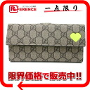 "Gucci GG Supreme neon heart two fold wallet beige x neon yellow ( fluorescent ) 323222 still use ""compatible."""