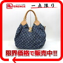 "Louis Vuitton Monogram Denim shoulder bag ""XL"" blue M95515 beauty products ""enabled."""