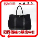 "Hermes garden party PM tote bag toil Office Yale black I carved ""response."""