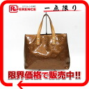 "Louis Vuitton Vernis mini tote bag lead PM bronze M91146 ""enabled."""