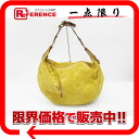 "Louis Vuitton Monogram suede ""Ont GM"" shoulder bag MEIs (yellow) M95118 ""enabled."""