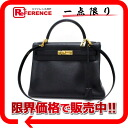 "Sew in a Hermes handbag ""Kelly 32"" shoulder-straps Ardennes black gold bracket E ever-s response."""