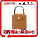 Bulgari leather 2-WAY handbag amber (Brown) 20031? s support.""