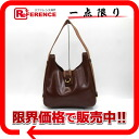 "Hermes ""Saco"" leather shoulder bags brown gold bracket old I inscribed ""support."""