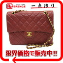 """Chanel lambskin matelasse W chain shoulder bag red / gold hardware? s support."""""""