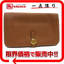 "Hermes two fold, with coin purse wallet ""Dogon GM"" slope gold gold bracket I inscribed ""support."""