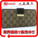 "Gucci GG W hook length wallet beige x Brown 212089 ""enabled."""