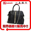 "Valentino garavani leather studded chain 2-WAY bag black CWB00317 ""enabled."""