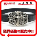 Chrome hearts mens leather belt black s correspondence.""