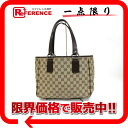 """Gucci GG canvas / leather tote bag beige x dark brown 113019 """"enabled."""""""