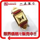 "Hermes medal ladies watch kshber red gold hardware X ticking ""response."""