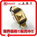 "Hermes medal ladies watch kshber black gold metal Y ticking ""response."""