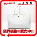"""Chanel calfskin 2WAY tote bag white """"support."""""""