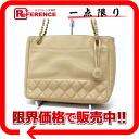"Chanel calfskin chain shoulder bag beige ""response."""