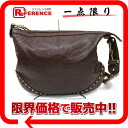 """Gucci studded Sherry embossed leather shoulder bag Brown 144011? s support."""""""