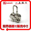 """Hermes 1997 limited edition elephant (elephant) Cadena silver brand new as well as """"support."""""""