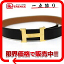 "Hermes minicomputer stance H belt reversible 65 box Cafe black x gold gold bracket Z time ""response."""