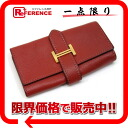 Hermes Bernd 4-key case Epson red gold hardware I ever-s compatible.""