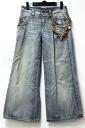 "Ermanoshelbino wide denim Womens jeans 38 Blue with charm ""response."""