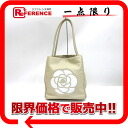"Chanel Camellia calfskin tote bag beige / white A20856 ""enabled."""
