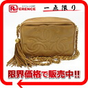 """Camel Brown fringe with triple Choco chain shoulder bag Chanel lambskin? s support."""""""