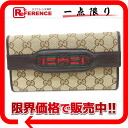 "Gucci DRESSAGE (launch) GG trifold wallet beige x Brown / Sherry 295354 not use ""compatible."""