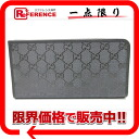 "Gucci GG imprimé L-shaped zipper wallet grey series 245978 unused ""response."""