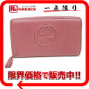 "Gucci SOHO (SOHO) leather zip around wallet rose 308280 ""enabled."""