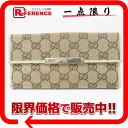 Gucci METAL BAR( metal bar) GG W hook long wallet beige X ivory 112715 》 for 《
