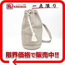 """Hermes """"lunch"""" one-shoulder bag triyoncremans turtle grey x silver bracket D ticking? s support."""""""