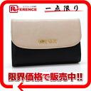 "Miu Miu MADRAS BICOLORE (madrasbecaurore) trifold L-shaped zipper wallet simply x unused black 5M1225 ""enabled."""