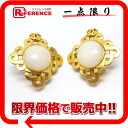 CHANEL 97P fake pearl earrings gold 》 for 《