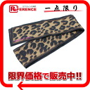 "Louis Vuitton silk bando scarf Leopard pattern Leopard pattern Marron M76894 ""enabled."""