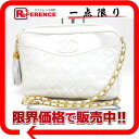 """Chanel lambskin quilted chain shoulder bag with fringe white """"support."""""""