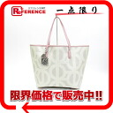 "Licatju PVC x leather tote bag with pouch beige × light pink of beauty products ""enabled."""