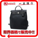 "Hermes ""airbag ad"" 2 WAY backpack toil Office Yale black D time ""response."""