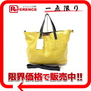 "Guccio Python pattern printed leather 2 WAY tote bag yellow brand new as well as ""support."""
