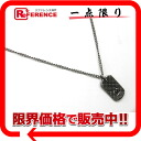 "Chanel 05P matelasse plate pendant matte silver ""support."""