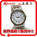 Hermes Carrick ladies watch quartz movement SS×GP White Dial s for.""