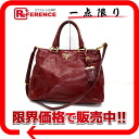 "Prada VITELLO SHINE (vitelloschein) leather 2 WAY tote bag RUBINO (Ruby Red) BN2323 ""enabled."""