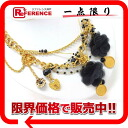"""Dolce & Gabbana d & g with charm chain necklace gold / black """"response."""""""