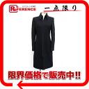 "Gianni Versace ladies long coat Black 4 ""support."""