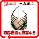 "Burberry Supernova check PVC one shoulder bag beige × black ""response."""
