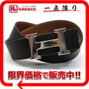 Hermes H reversible belt 70 box Cafe x slope black x gold silver fittings G ticking? s support.""