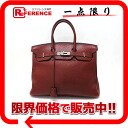 "Best handbags Hermes ""Birkin 35"" triyoncremans Rouge ash silver bracket H engraved ""response."""