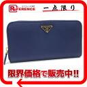 프라다 サフィアーノ SAFFIANO TRIANG 라운드 지퍼 장 지갑 BLUETTE (블루) 1M0506 미사용 《 대응 》